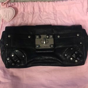 Juicy Couture black leather clutch